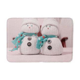 Tapis de bain de bonhommes de neige de vacances