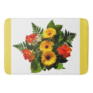 Tapis de bain de bouquet floral