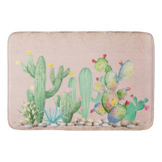 Tapis de bain de cactus de sud-ouest