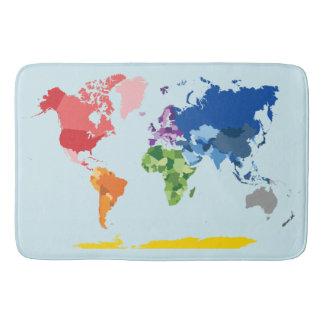 Tapis de bain de carte du monde