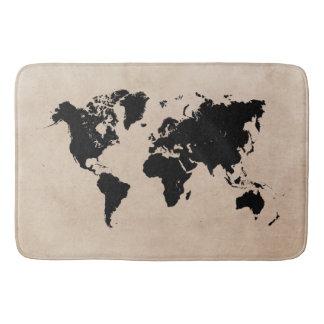 tapis de bain de carte du monde grand
