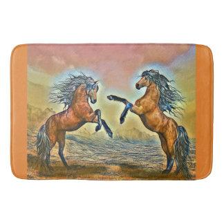 Tapis de bain de chevaux sauvages