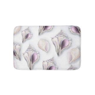 Tapis de bain de motif de coquillage du pastel