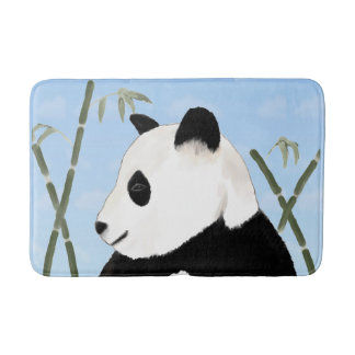 Tapis de bain de panda géant et de bambou