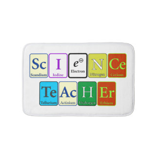 Tapis de bain de professeur de Sciences