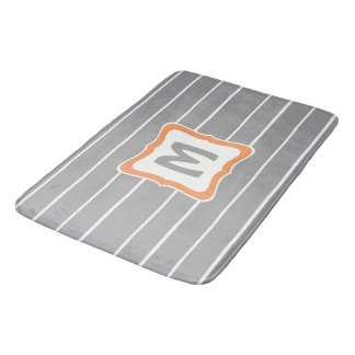 Tapis de bain de rectangle avec le monogramme dans