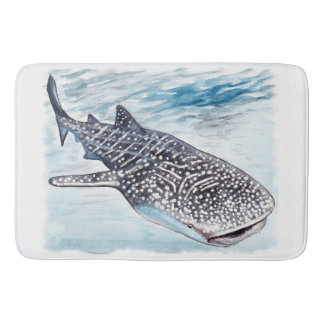 Tapis de bain d'illustration de requin de baleine