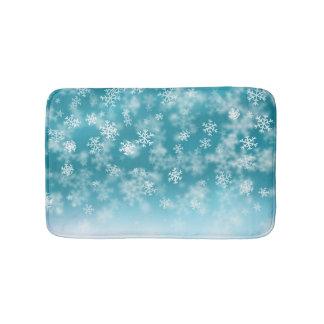 Tapis de bain élégant et beau des flocons de neige
