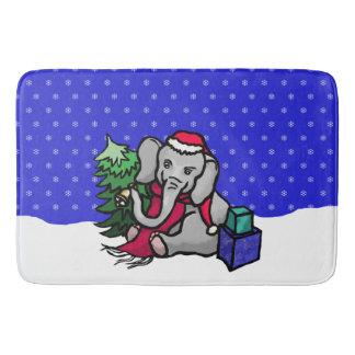 Tapis De Bain Éléphant magnifique de Noël Père Noël dans la