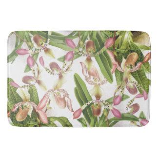 Tapis de bain floral de fleurs d'orchidée