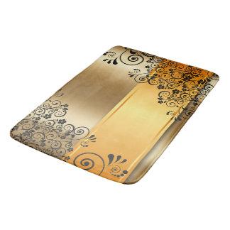 Tapis De Bain Floral d'or