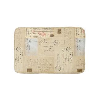 Tapis de bain français vintage de carte postale