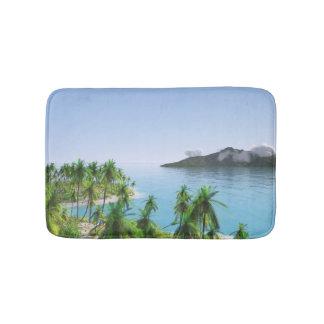 Tapis De Bain Île tropicale de palmier
