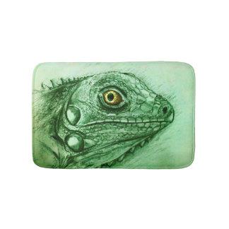 Tapis de bain illustré coloré - iguane
