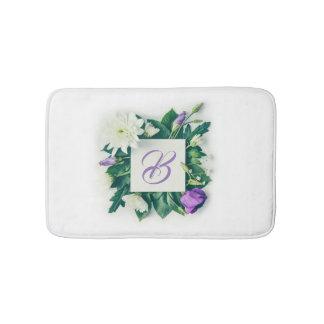 Tapis De Bain Initiale d'arrangement floral
