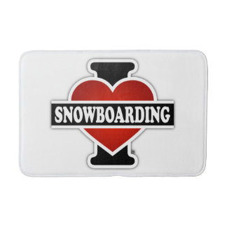 Tapis De Bain J'aime faire du surf des neiges