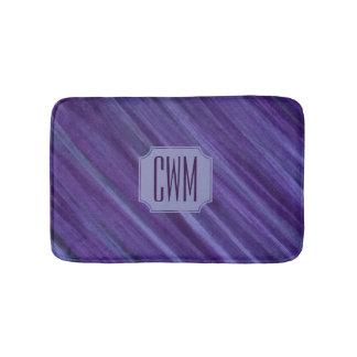 Tapis De Bain Lilas violet pourpre de monogramme indifférent de