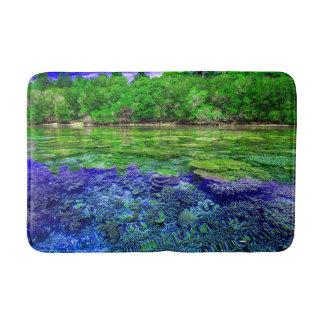 Tapis De Bain Littoral tropical de récif coralien
