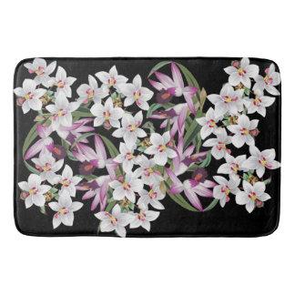 Tapis De Bain L'orchidée blanche tropicale fleurit le tapis de