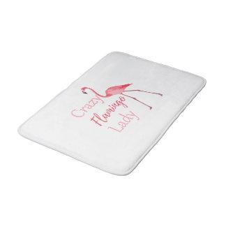 Tapis De Bain Madame folle Funny Flamingo de flamant