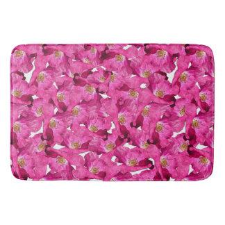 Tapis De Bain Modèle rose de pavots floraux