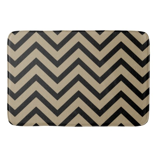 tapis de bain moderne de motif de chevron de noir zazzle. Black Bedroom Furniture Sets. Home Design Ideas