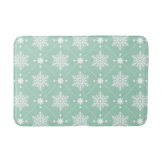 Tapis De Bain Motif blanc vert en bon état de Noël de flocons de