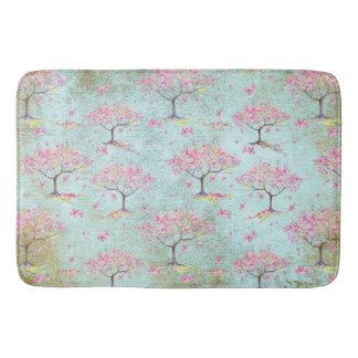 Tapis De Bain Motif brillant de ressort de fleurs de cerisier