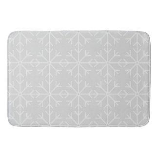Tapis De Bain Motif de flocon de neige - gris et blanc