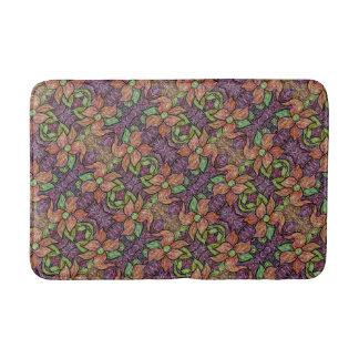 Tapis De Bain Motif floral coloré