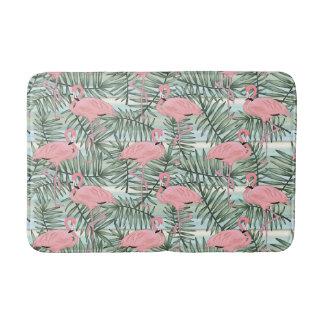 Tapis De Bain Motif mignon de feuilles de palmier de flamants de