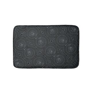 Tapis de bain noir et argenté