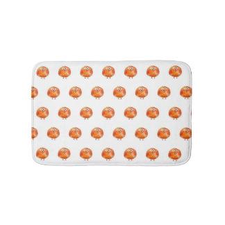 Tapis de bain orange mignon de motif d'oiseau
