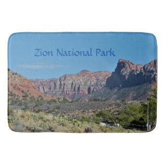Tapis De Bain Parc national de Zion de montagne