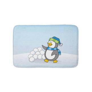Tapis De Bain Petit pingouin avec l'ondulation de boules de