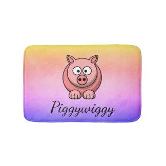 Tapis De Bain PiggyWiggy peu de porcelet mignon en pastel de