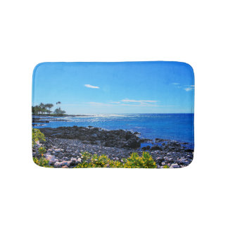 Tapis De Bain Plage rocheuse tropicale d'île hawaïenne