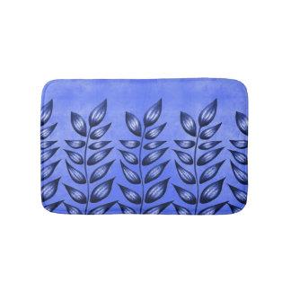 Tapis De Bain Plante décoratif bleu élégant avec le feuille
