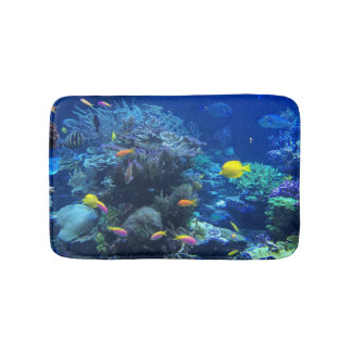 Tapis De Bain Poissons sous-marins tropicaux