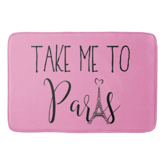"""Tapis De Bain """"Portez-moi à Paris """""""