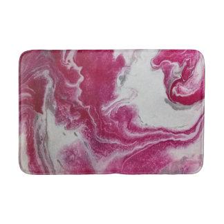 Tapis de bain rose d'abrégé sur marbre