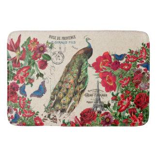 Tapis de bain rose de Paris de fleur d'oiseau
