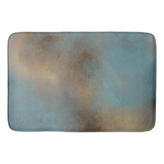 Tapis de bain serein Teal-Bleu, d'or et de Brown  