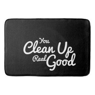 Tapis De Bain Texte fait sur commande vous nettoyez vrai bon