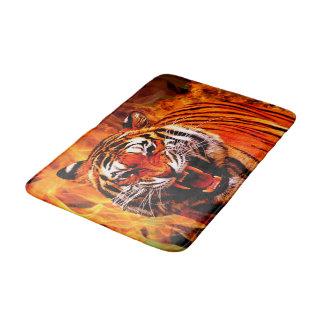 Tapis De Bain Tigre et flamme