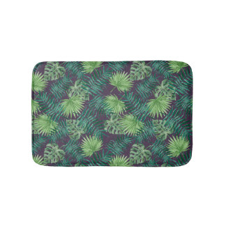Tapis de bain tropical de la jungle | de feuille