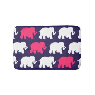 Tapis de bain vert de coutume d'éléphants de