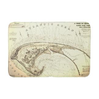 Tapis De Bain Vieille carte vintage de Provincetown Cape Cod