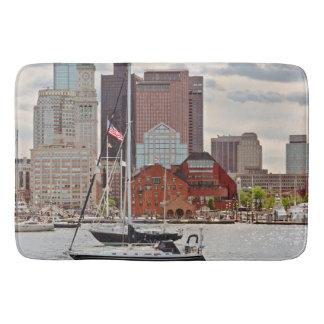 Tapis De Bain Ville - Boston mA - horizon de promenade de port