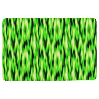 Tapis de plancher de motif d'abrégé sur vert de